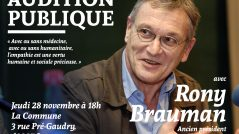 Audition publique de Rony Brauman, ancien président de Médecins sans Frontières